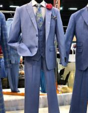 regular fit light blue windowpane suit