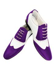Nardoni Leather Two Toned  Wing Tip Shoe