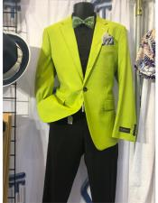Neon Green ~ Bright Lime Green Blazer ~ Sport