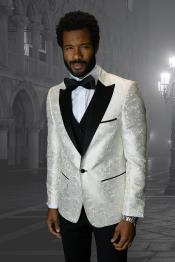 IV Off-White 1-Button Peak Tuxedo - 3 Piece Suit