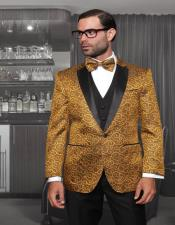 Gold 1-Button Notch Tuxedo