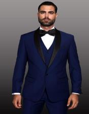Theo Sapphire-1-Button Shawl Tuxedo - 3