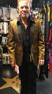 mens Gold Blazer ~ Suit Jacket