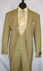 #5702v6-TanPlaid- Vested Mens 1930