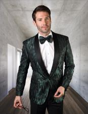 Green Tuxedo Dinner Jacket Blazer Sport