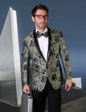 Green Tuxedo Dinner Jacket Sport Coat