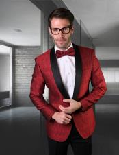 Red And Black Tuxedo Dinner Jacket