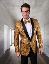 Mens Gold Shawl Lapel Suit or