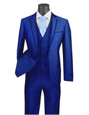 #Royal Blue Suit For Men Perfect  Tuxedo Vinci