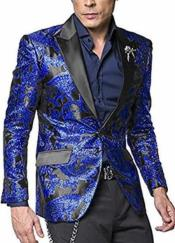 Mens Royal Blue Two Toned Big