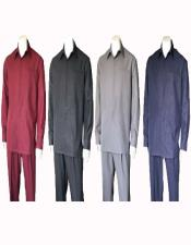 Plain Long Sleeve Casual Walking Suit