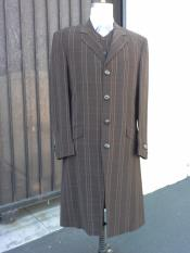 Mens Brown Maxi Zoot Suit Full
