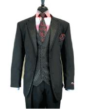 2 Button Single Breasted Notch Lapel Suit