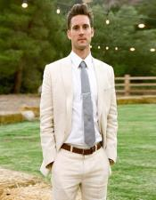 Fabric Ivory Cream Off White Suit  2 Button