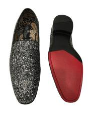 Slip On Shiny Fashionable Black ~ White Shoe