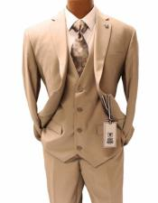 Mens Tan Notch Lapel Suit Two