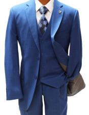 Mens Two Button Suit Blue Suit