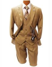 Mens Taupe Classic Fit Two Button