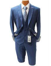Mens Two Button Suit Notch Lapel