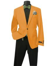 Orange Mens Solid Sports Coats