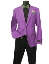 Fushia Mens Solid Sports Coats