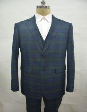 PLAID-235 Green Suit