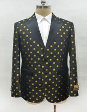 Mens Fashion Black-Gold Suit