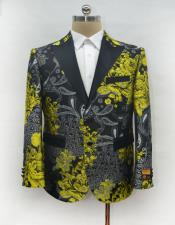 Mens Fashion Gold Suit