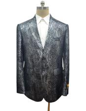 black notch lapel Ostrich looking python skin jacket