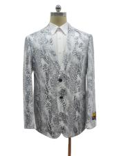 breasted notch lapel python skin Ostrich looking jacket men's