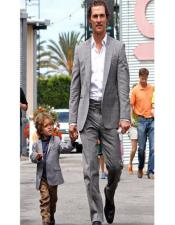 ~ Dad And Son Matching Suits Grey For Men