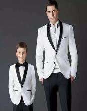 ~ Dad And Son Matching Suits Black And White