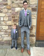 Single Breasted Notch Lapel Father ~ Dad And Son
