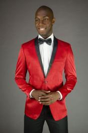 and Red Dress Mens suit Comes with Black Pants