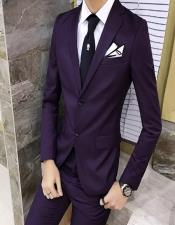Mens Eggplant ~ Plum ~ Dark