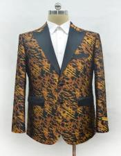 Mens Leopard Ostrich looking Blazer