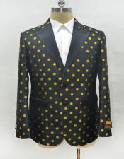 Mens Black-Gold Blazer