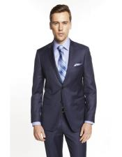 Single Breasted Notch Lapel Solid Indigo ~ Bright Blue