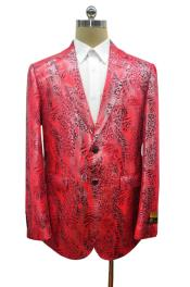 snake skin big and tall red sport coat