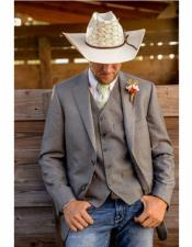 Two Closure Single Breasted Cowboy Wedding Suit