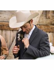 Button Closure Cowboy Tuxedo Attire Western Outfit