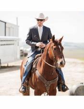 Single Breasted Notch Lapel Cowboy Wedding Suit