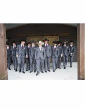 Besom Front Pockets Cowboy Wedding Suit