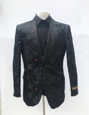 Single Breasted Peak Lapel Black Blazer