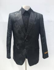 Mens Single Breasted Black Blazer