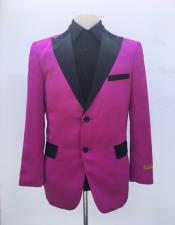Mens Single Breasted Dark Pink Blazer