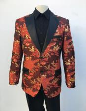 Mens Red ~ Gold Blazer