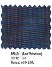 Bertolini Suit Blue Windowpane