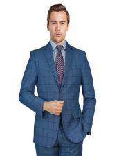 Suit Blue Birdseye Windowpane