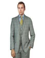Bertolini Suit Gray Windowpane
